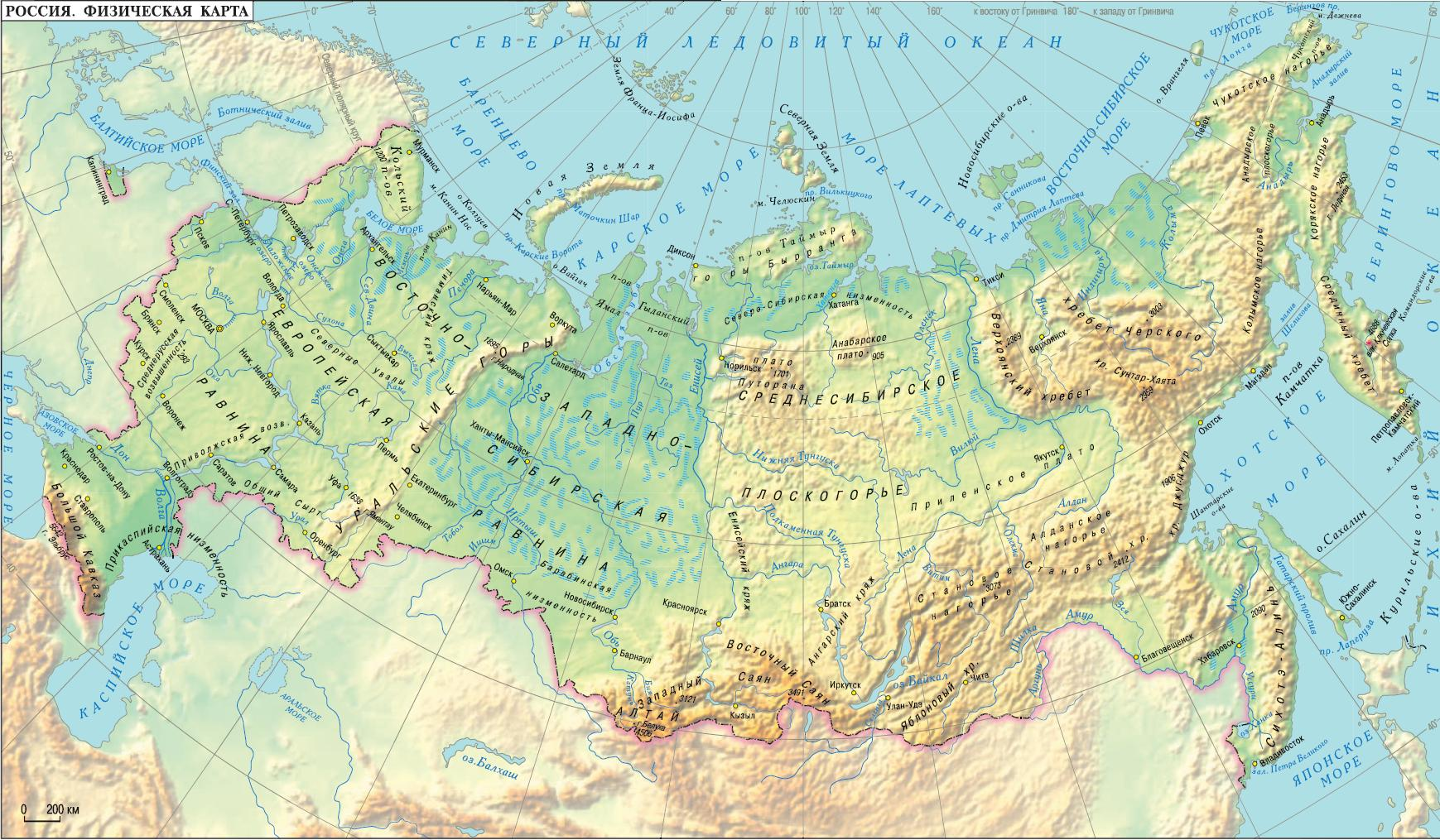 карта изображения: