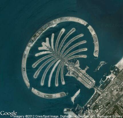 Остров джумейра в виде пальмы